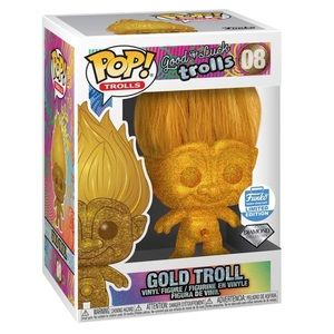 Funko Pop Gold Troll 08 Diamond collection limited